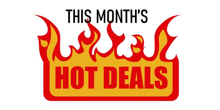 This month's hot deals